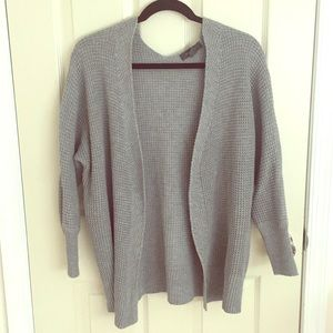 Grey sweater cardigan